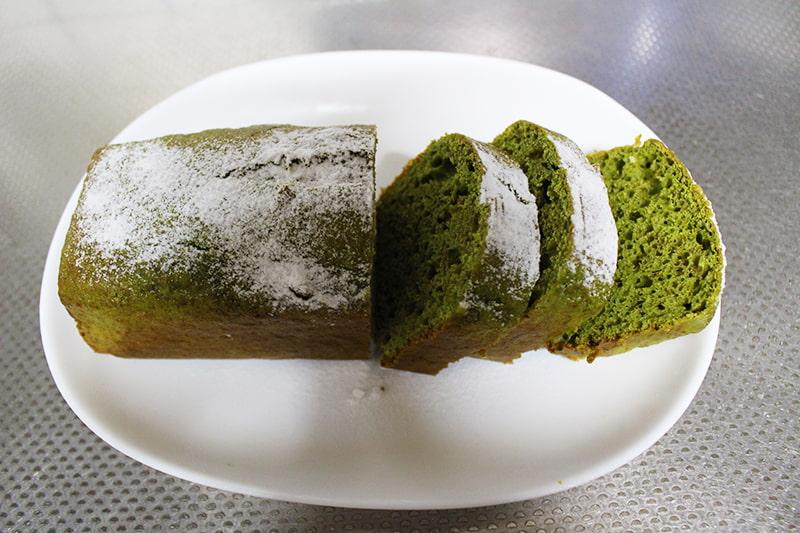 アイスで抹茶パウンドケーキ