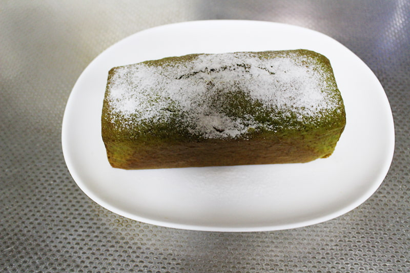 「アイスで抹茶パウンドケーキ」の作り方・完成