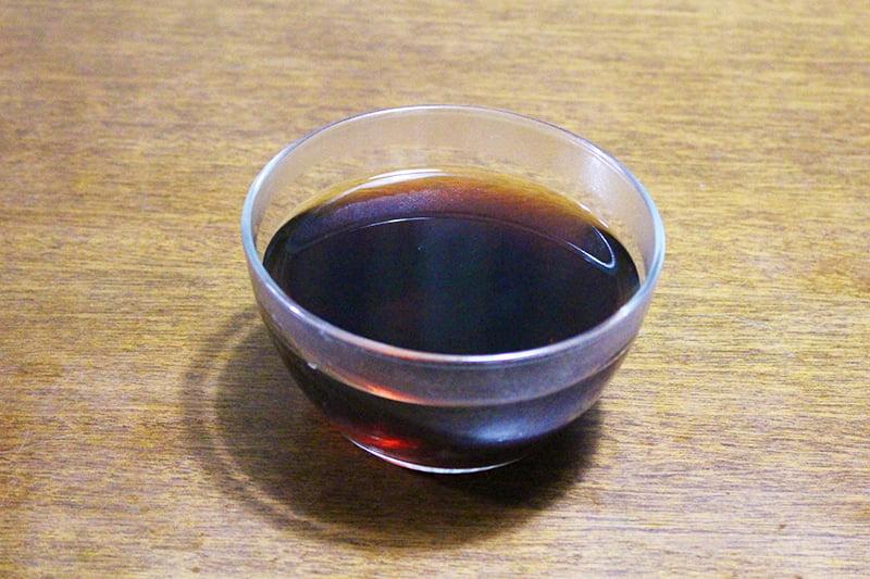 ゼラチンで作ったコーヒーゼリー