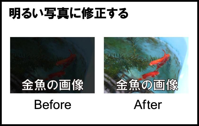 アイキャッチ画像の修正5「明るい写真に修正する」