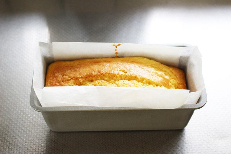 「余った生クリームでパウンドケーキ」の作り方・完成