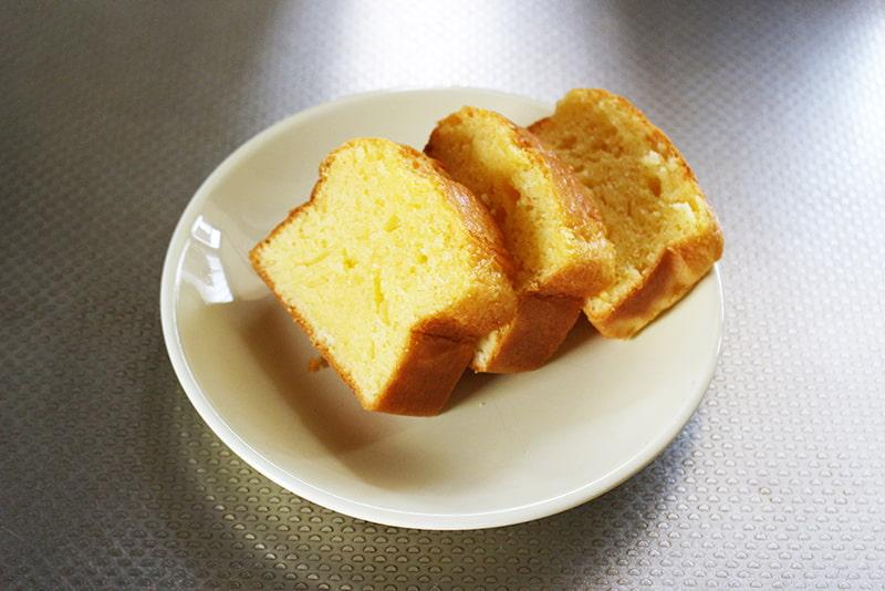 余った生クリームでパウンドケーキ