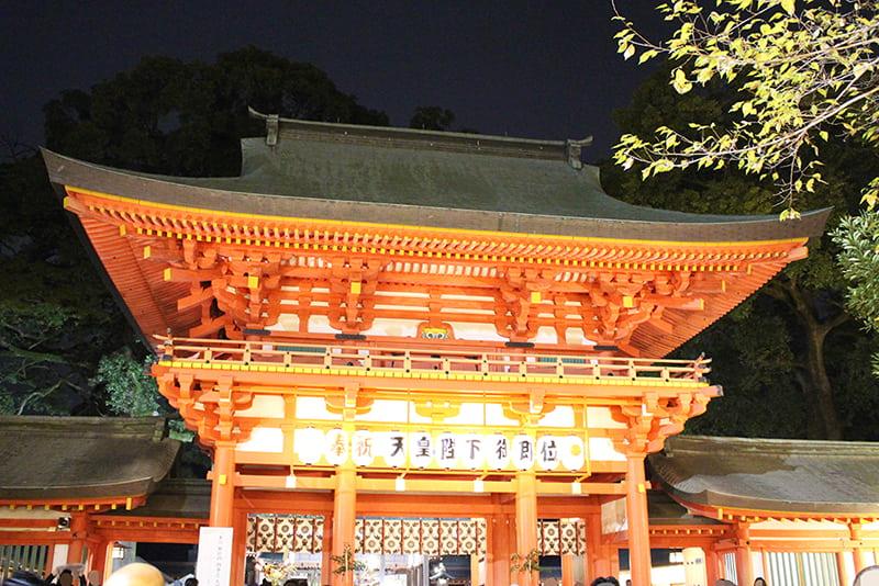 大宮氷川神社 朱の楼門前