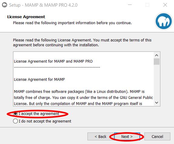 MAMPのインストール方法3
