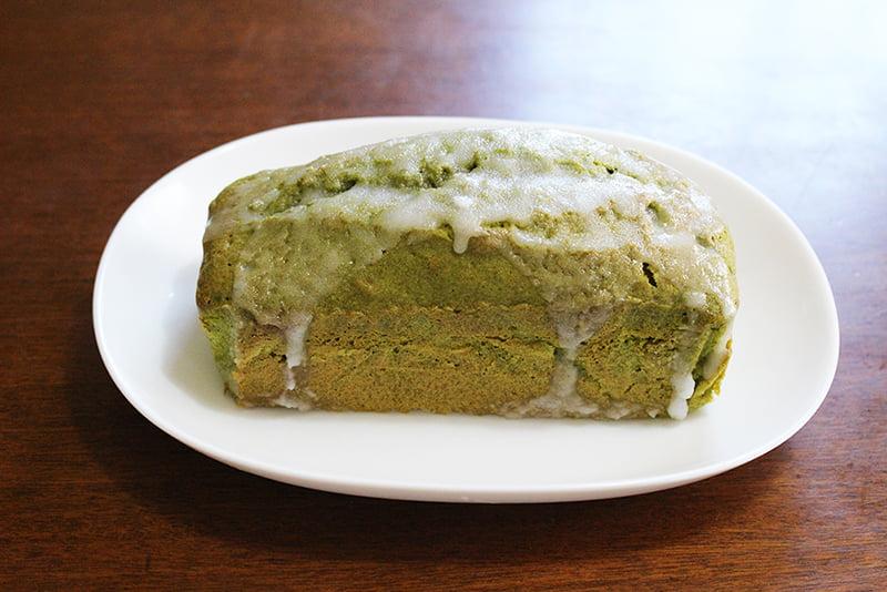 「抹茶アイシングのパウンドケーキ」の作り方・完成