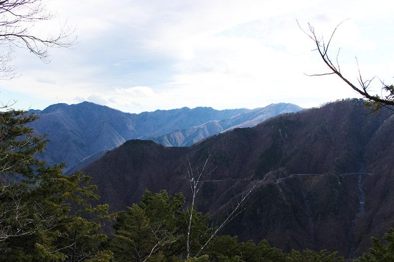 三峯神社奥宮からの景色