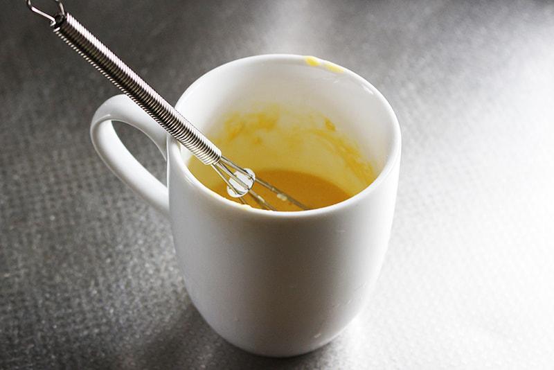 「マグカップで蒸しパン」の作り方2