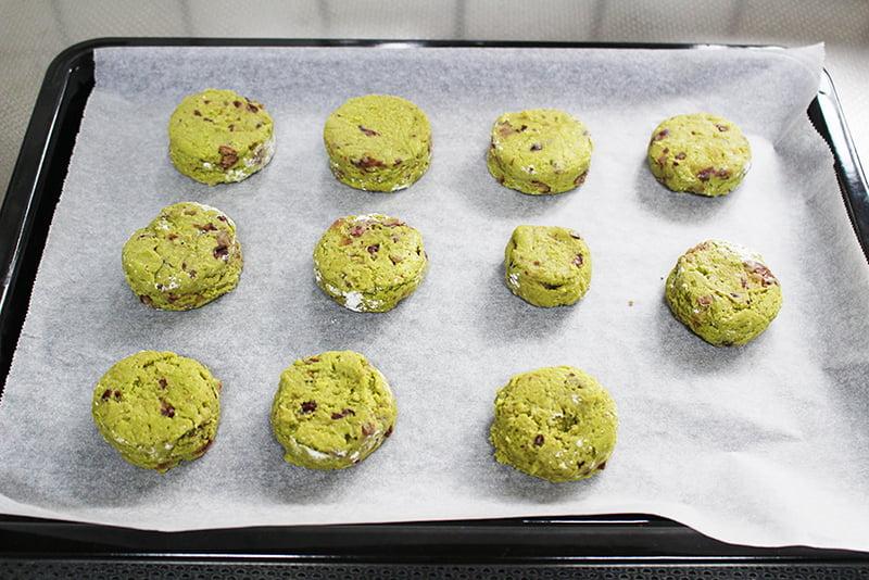 「残った小豆で、抹茶と小豆のスコーン」の作り方5