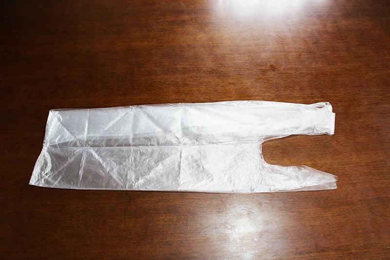 レジ袋たたみ方「3角折り」2