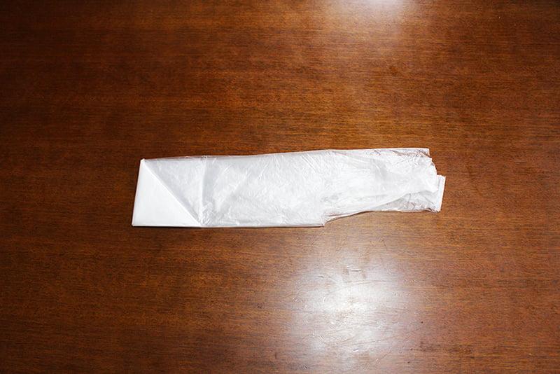 レジ袋たたみ方「3角折り」5