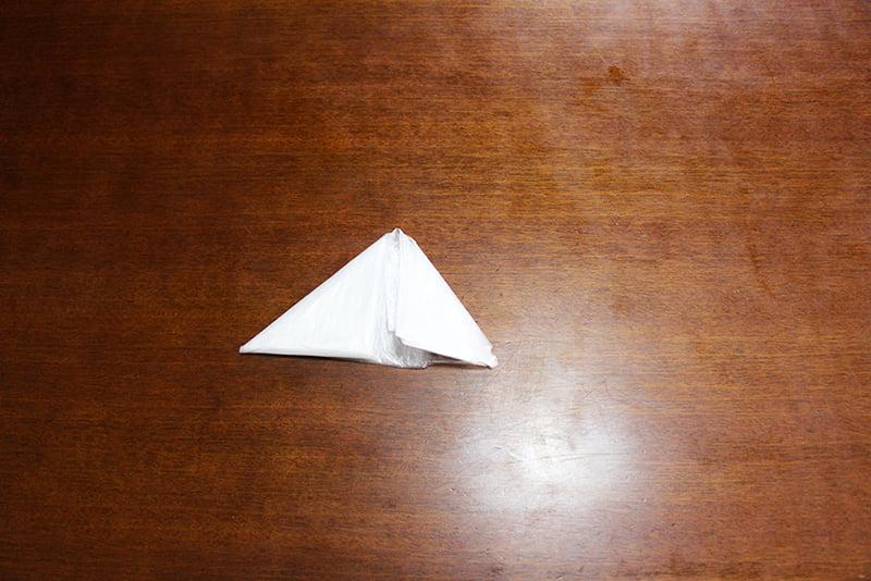 レジ袋たたみ方「3角折り」7