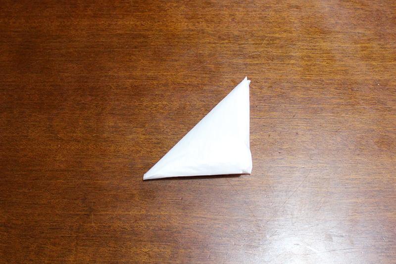 レジ袋たたみ方「3角折り」完成