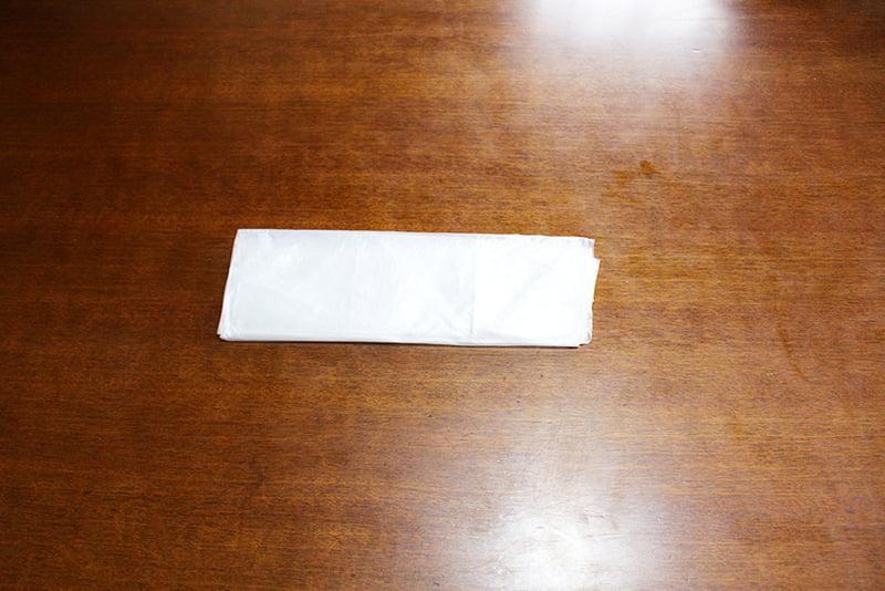 レジ袋たたみ方「4角折り」4