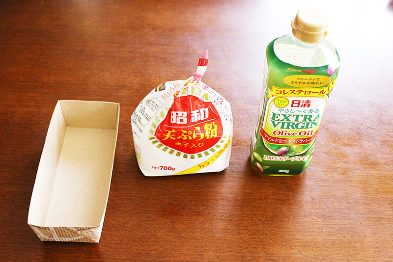 パウンドケーキ型・天ぷら粉・オリーブオイル