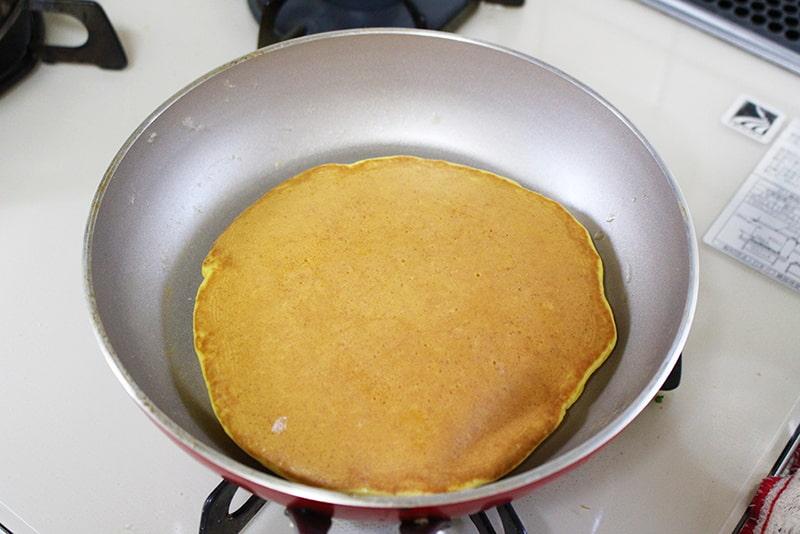「天ぷら粉で人参パンケーキ」の作り方5