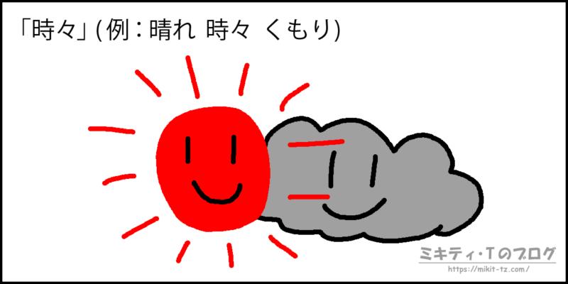 天気用語「時々」