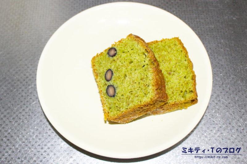 黒豆抹茶のパウンドケーキ